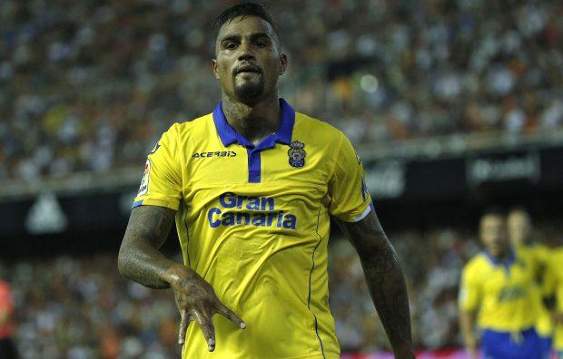 Kevin Prince Boateng anotó en su debut con la UD Las Palmas. (EFE)
