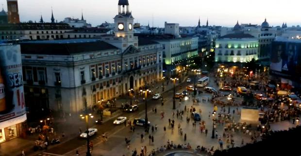 Ambulancias en la Puerta del Sol