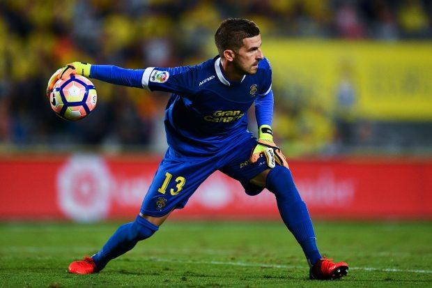 Javi Varas, portero de la UD Las Palmas. (Getty)