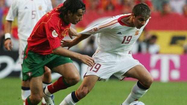 España perdió contra Portugal en 2004. (Getty)