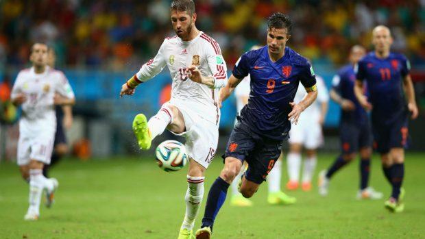 España fue goleada por Holanda. (Getty)