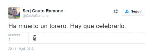 Las redes sociales se llenan de macabros mensajes celebrando la muerte del torero Víctor Barrio
