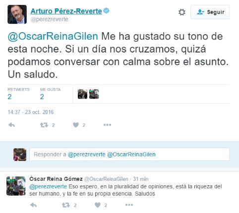 El Pancetas se enzarza en Twitter con ¡Pérez Reverte!
