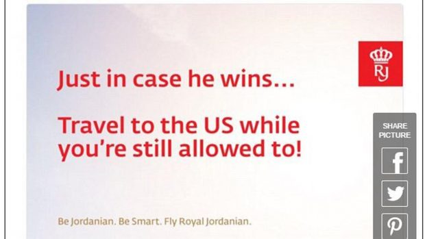 Simpática campaña de Royal Jordanian.