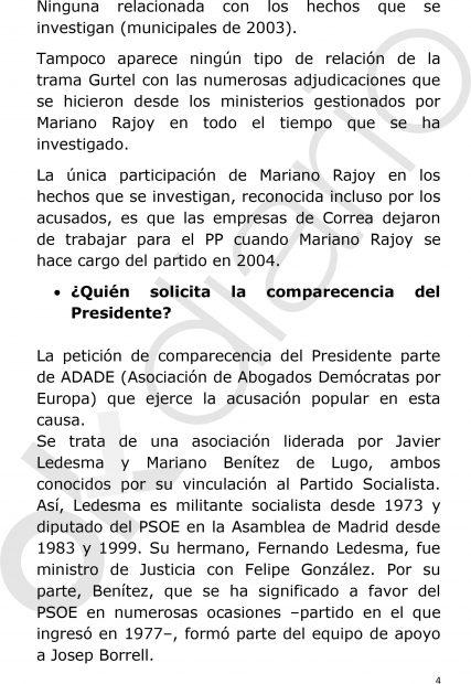 El PP defenderá la declaración de Rajoy recordando el ejemplo de Cameron, Tusk o Bachelet