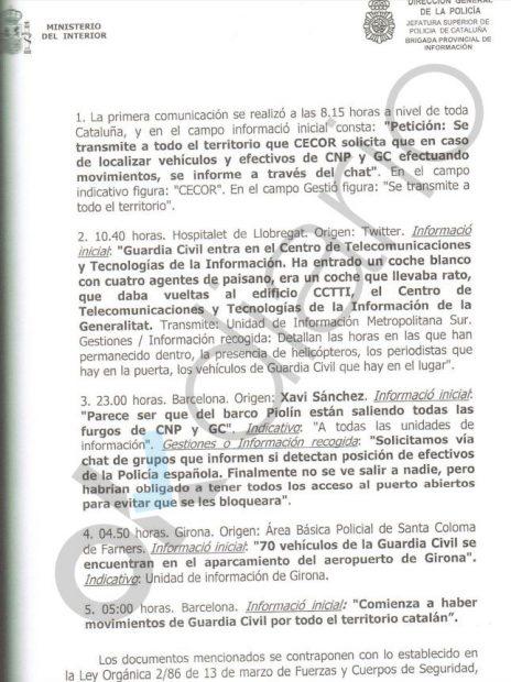 Trapero ordenó a los Mossos espiar los movimientos de Policía y Guardia Civil el 1-O para anularlos