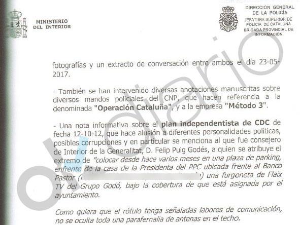 El conseller Puig ordenó espiar el domicilio de la líder del PP con un coche de la TV de Godó y Roures
