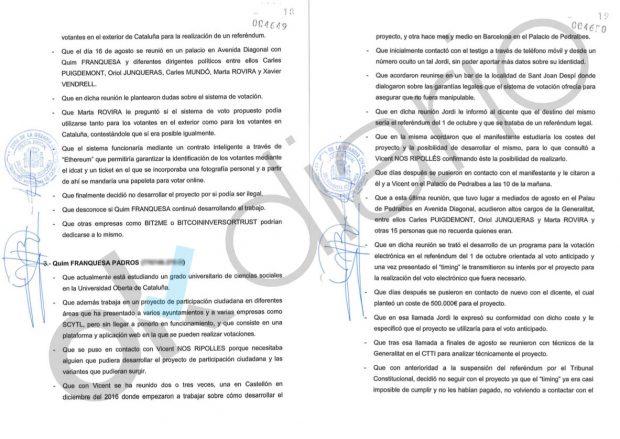 Marta Rovira y el terrorista confeso Vendrell lideraron reuniones con empresas para organizar el 1-0