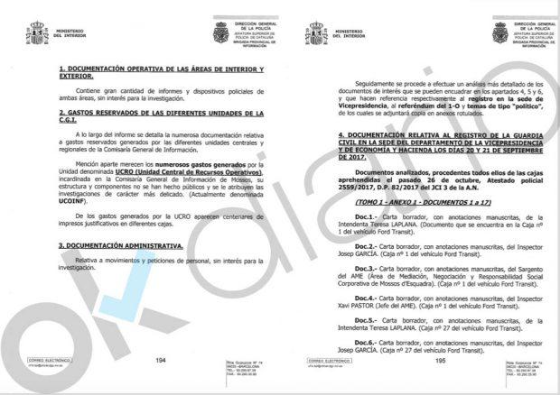 La Generalitat permitió gastos ocultos millonarios a la unidad de espionaje político de los Mossos