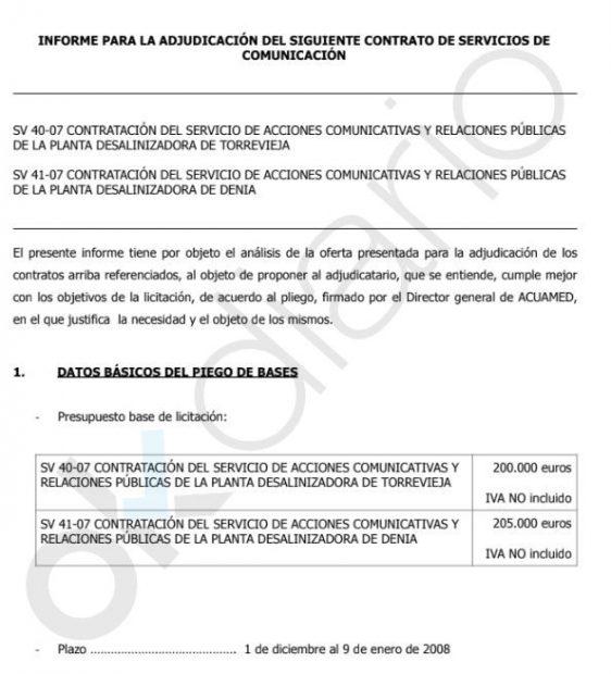 La empresa que financió al PSOE de Puig ganó un contrato de 205.000 € a días de las elecciones