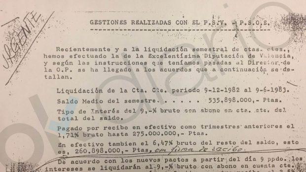 El PSOE de Lerma y Puig logró fondos para Ferraz mientras se quedaba dinero de la Diputación