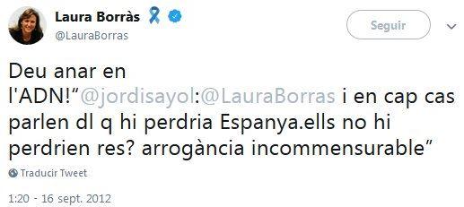"""El supremacismo de la nueva consellera Borràs: """"Pedrerol no es catalán, es un español nacido en Cataluña"""""""