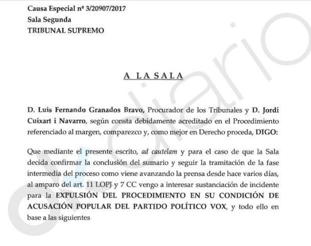 ERC negocia con Sánchez expulsar a Vox del 1-O tras lograr que la Abogacía perdone la rebelión