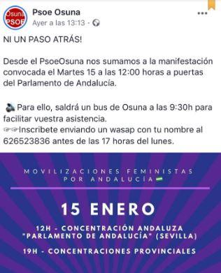 El PSOE de Díaz fleta 15 autobuses para acudir a escrachear el Parlamento en la investidura de Moreno